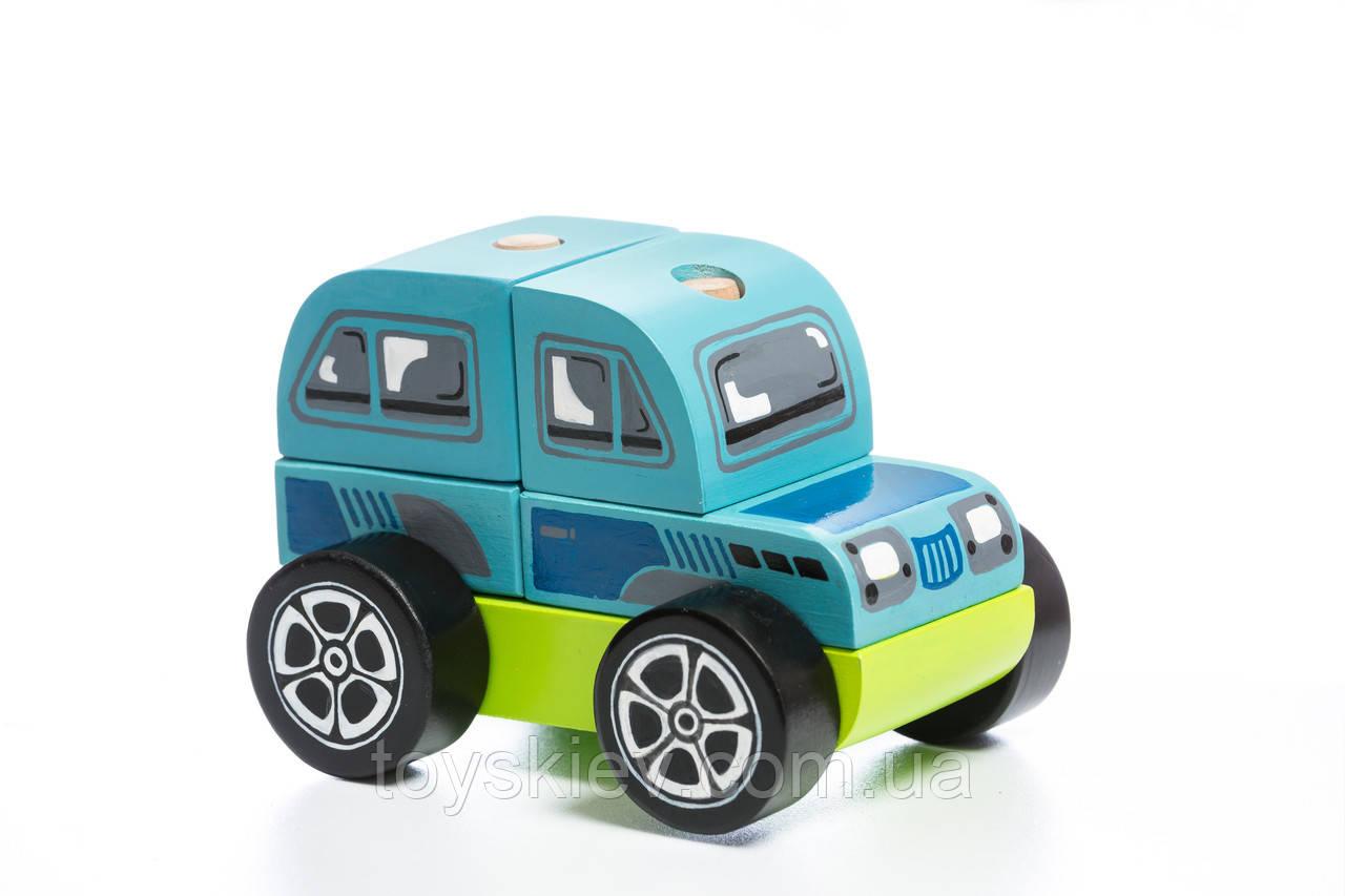 Джип LM-9 Деревянная машинка Левеня Cubika