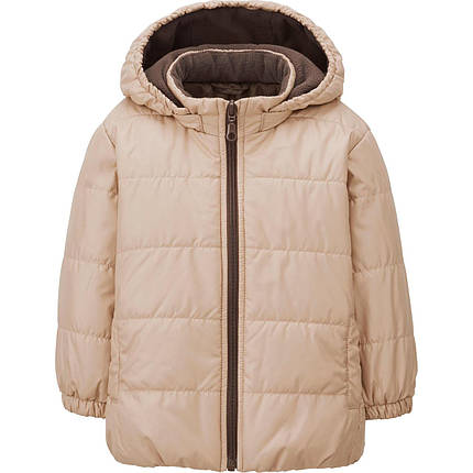 Куртка Uniqlo toddler warm lite jacket BIEGE, фото 2