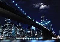 Фотообои 3D город 368x254 см Мост под луной (10328P8)