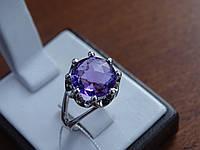 Серебряное кольцо с кварцем(Аметистом), фото 1