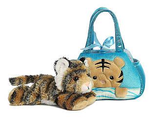 Мягкая игрушка в сумочке Бенгальский тигр Пик-А-Бу Aurora Fancy Pals Pet Carrier Peek-A-Boo Bengal Tiger