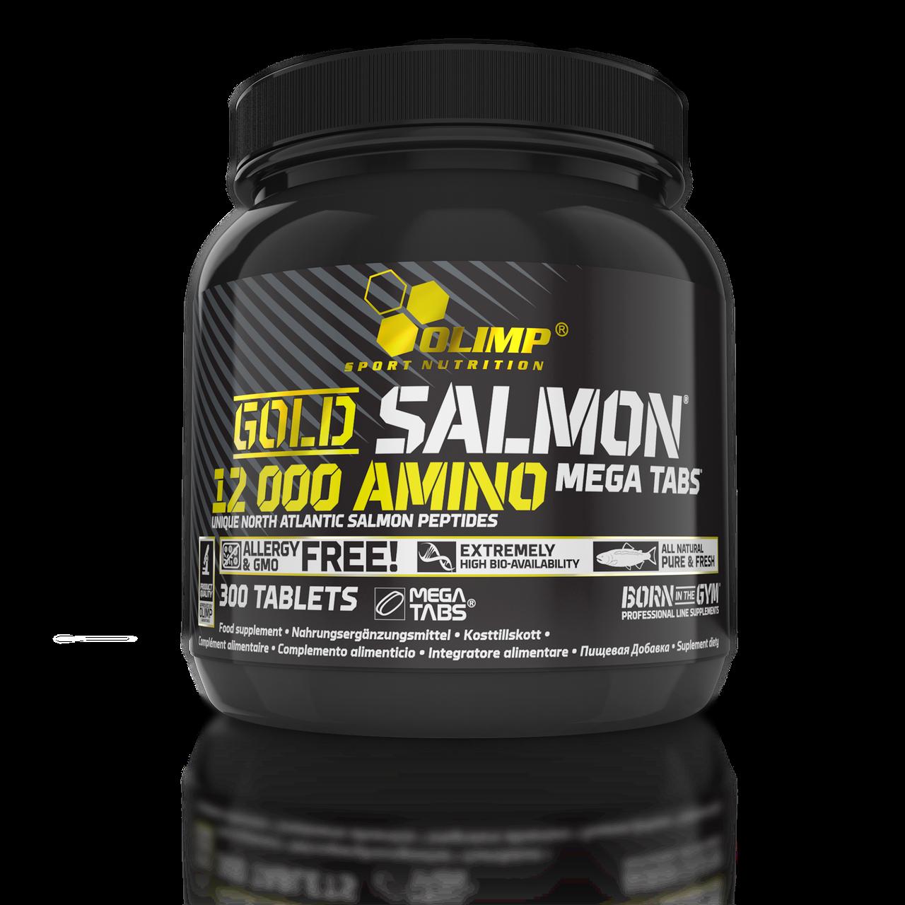 Аминокислоты Olimp Gold Salmon 12000 Amino mega tabs 300 tabs