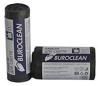 Пакеты для мусора Buroclean 35л30шт Eurostandart черные 10200012