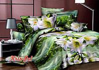 """Красивый двухспальный евро комплект постельного белья """"Прекрасное настроение""""."""