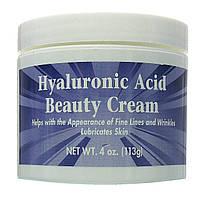 Крем с гиалуроновой кислотой для лица, Hyaluronic Acid Beauty Cream, Puritan's Pride, 118 мл, фото 1
