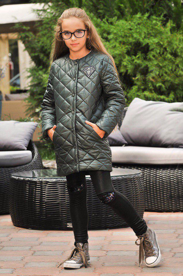 Куртка LiLove 300-2 140 зеленый