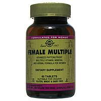 Витамины для женщин, Female Multiple, Solgar, 60 таблеток