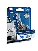 Галогенная лампа Philips H11 WhiteVision 12V 12362WHVB1 (1шт.)