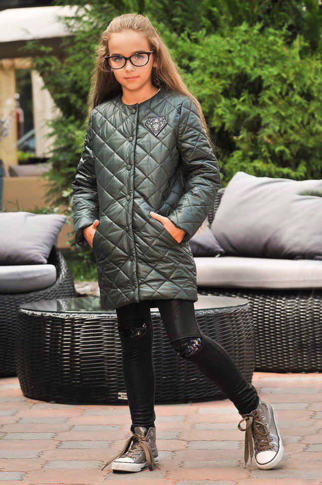 Куртка LiLove 300-2 152 зеленый
