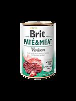 Brit Pate & Meat Dog k 400 g с олениной и курицей
