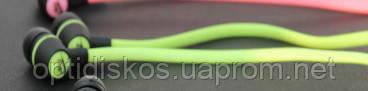 Навушники вакуумні Nike, зелені, в пакеті