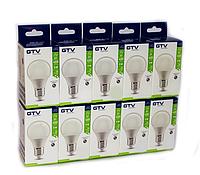 Промо-набор 10 светодиодных LED ламп GTV, 5W, 3000К, тёплого свечения, цоколь - Е27, 3 года гарантии! ПОЛЬША!