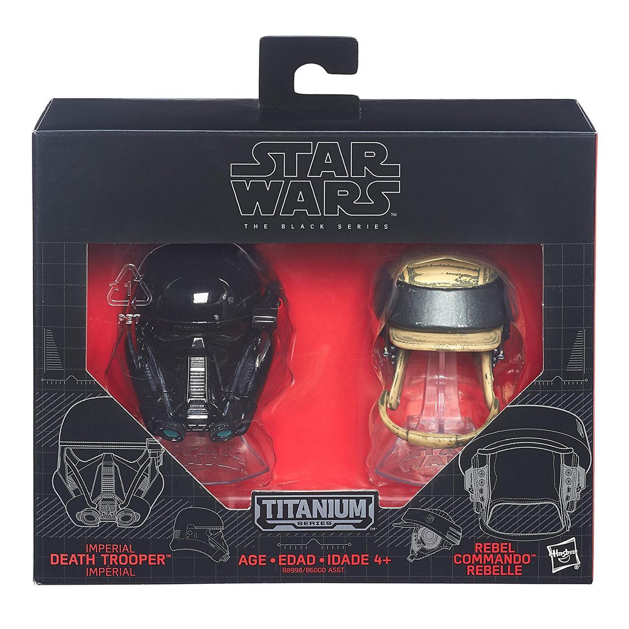 """Мини-шлемы имперского солдата-смертника и повстанца """"Звездные войны"""" - Star Wars, Black Series, Hasbro"""
