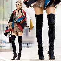 Красивые стильные ботфорты на каблуке , фото 1