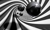 Фотообои 3D фигуры (бумага, флизелин) 368x254 см Спираль и шары (3065.20169)