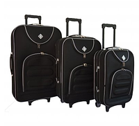 Набор чемоданов Bonro Lux черный (102405)