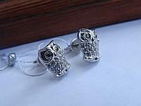 Эксклюзив! Серебряные серьги-гвоздики (пуссеты), фото 1
