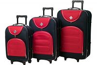 Набор чемоданов Bonro Lux 3 штуки т.синий-красный (110189)