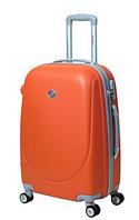 Чемодан Bonro Smile большой с двойными колесами оранжевый (110226)