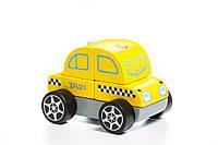 Деревянная игрушка Cubika Машинка Такси 5 деталей