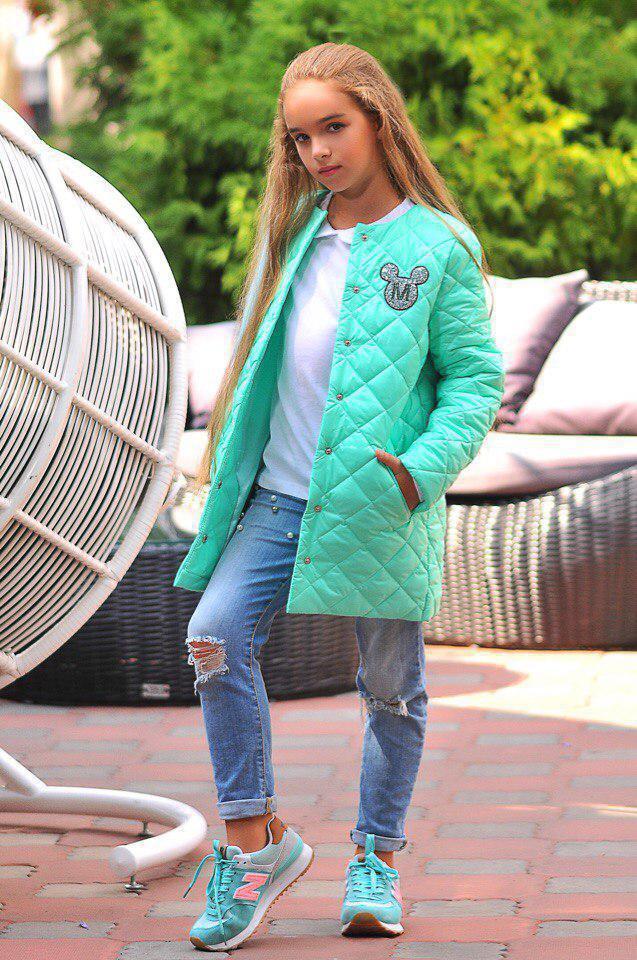Куртка LiLove 300-4 152 ментоловый