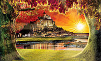 Фотообои 3D природа, пейзаж 368x254 см Волшебный замок (2600CN)