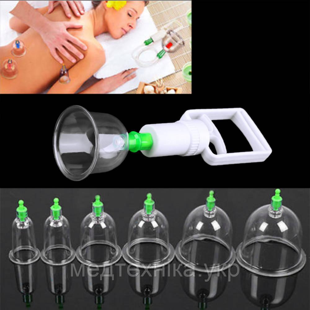 Вакуумные массажные банки для домашней терапии и вакуумного масажа №6