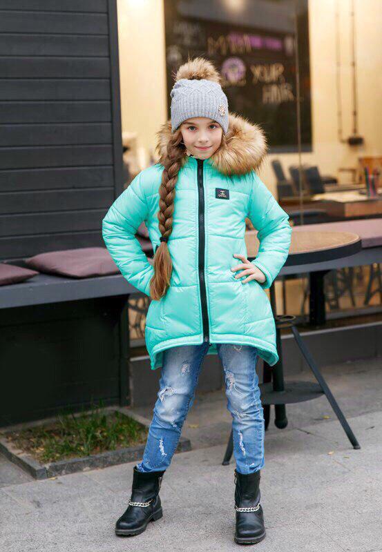 Куртка LiLove 203 152 ментоловый