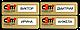 Металлический бейдж с окошком для сменного имени на магните/булавке 76х25 мм., фото 2