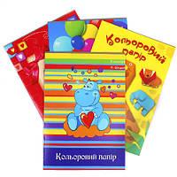 Набор цветной бумаги Бумвест А4 16 листов 8 цветов на скобе