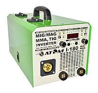 Сварочный инверторный полуавтомат Атом I-180 MIG/MAG (без горелки и кабелей)., фото 1