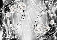 Фотообои 3D 368x254 см Серые волны и диаманты (10406CN)