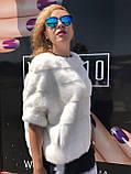 Норковый свитер белый, фото 2