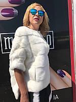 Норковый свитер белый, фото 1