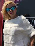Норковый свитер белый, фото 4