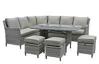 Обеденный комплект Черемош (стол, диван, 3 пуфа), фото 1