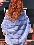 Норковый свитер сиреневый, фото 3