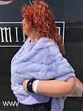 Норковый свитер сиреневый, фото 2