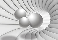 Фотообои 3D (254х184, 368х254, флизелин, бумага) Туннель с шарами (10141CN)