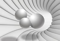 Фотообои готовые 3D туннель с шарами (10141CN)