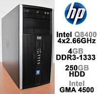 HP 6000 Pro - 4 ЯДРА / 4GB DDR3 / 250GB HDD Системный блок, Компьютер, ПК