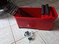 Ведро для плиточника ёмкостью  20л(красное)  c двойными  роликами