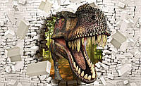 Фотообои 3D 368x254 см Динозавр и стена (11463CN)