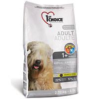 """Cухой корм """"1st Choice Hypoallergenic"""" 22/12 (гипоаллергенный для взрослых собак с чувств. пищеварением), 12 кг"""