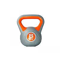 Гиря пластиковая насыпная LiveUp Plastic Kettel Bell, 8 кг, фото 1