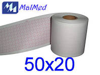 Бумага 50Х20 для ЭКГ Heaco 100G, BE100