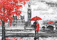 Фотообои готовые 368x254 см Красно-черный Лондон (11471CN)