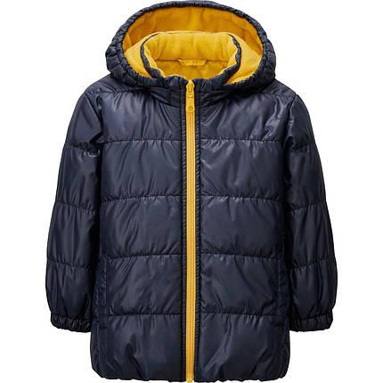 Куртка Uniqlo toddler warm lite jacket NAVY, фото 2