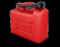 Пластиковая канистра 10л KS CAN 10 антистатическая с лейкой для топлива