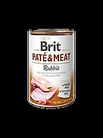 Brit Pate & Meat Dog k 400 g с кроликом и курицей